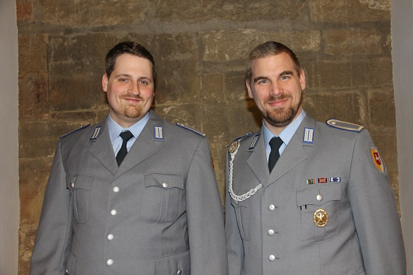 Stabsunteroffiziere Florian Rodatz (li.) und Sascha Logan (re.). Foto: KMS / Barbara Dreiling
