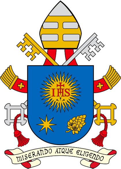 Das Wappen von Papst Franziskus (Quelle: www.dbk.de)
