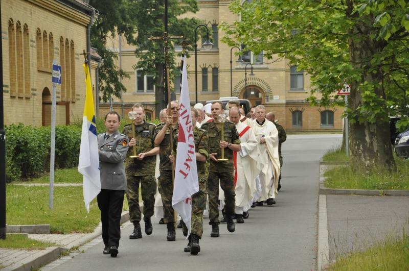 Soldaten beim Feldgottesdienst mit Militärbischof Overbeck beim 100. Deutschen Katholikentag in Leipzig © KS / Halina Wegrzynowicz