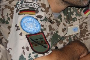 Wappen eines Bundeswehr-Soldaten im UN-Blauhelmeinsatz (© KS / Barbara Dreiling)